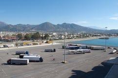Porto di Patras, Grecia fotografie stock libere da diritti