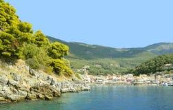 Porto di Paxos un'isola greca nel mare ionico immagini stock libere da diritti