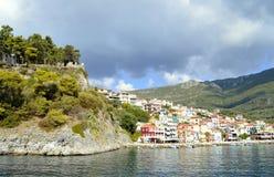 Porto di Paxos un'isola greca nel mare ionico fotografia stock