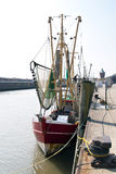 Porto di pesca Cuxhaven Fotografie Stock