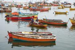 Porto di pesca di Arica Immagine Stock
