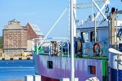Porto di pesca di Kolobrzeg, Polonia Fotografie Stock Libere da Diritti
