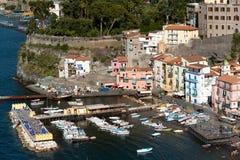 Porto di pesca di Sorrento Italia Fotografia Stock