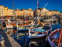 Porto di pesca di StTropez Immagini Stock