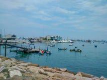 Porto di pesca in manta, Ecuador immagine stock libera da diritti