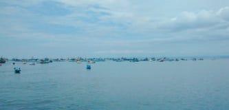 Porto di pesca in manta, Ecuador fotografie stock libere da diritti
