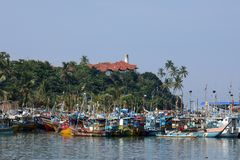 Porto di pesca di Matara nello Sri Lanka immagine stock