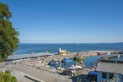 Porto di pesca in Sassnitz sull'isola della GEN del ¼ di RÃ fotografie stock
