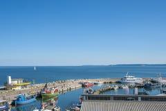 Porto di pesca in Sassnitz sull'isola della GEN del ¼ di RÃ immagine stock libera da diritti