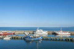 Porto di pesca in Sassnitz sull'isola della GEN del ¼ di RÃ immagini stock