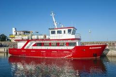 Porto di pesca in Sassnitz sull'isola della GEN del ¼ di RÃ fotografia stock libera da diritti