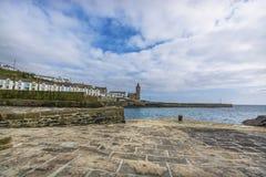 Porto di pesca storico di Porthlevan Fotografia Stock Libera da Diritti