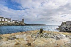 Porto di pesca storico di Porthlevan Fotografia Stock