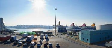 Porto di Pireo Fotografie Stock Libere da Diritti