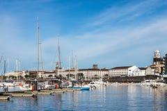 Porto di Ponta Delgada, S Miguel, Azzorre Immagini Stock Libere da Diritti