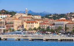 Porto di Propriano, a sud della Corsica, la Francia fotografia stock libera da diritti