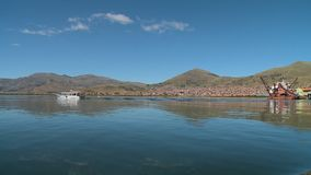 Porto di Puno e litorale, il Titicaca, Perù archivi video