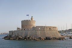 Porto di Rhodes Mandraki, Grecia Fotografia Stock