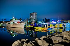 Porto di riva dell'oceano fotografia stock libera da diritti