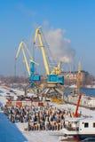 Porto di Rivew nell'inverno Fotografie Stock