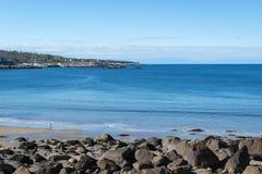 Porto di Rockport con il cielo blu e pulito Fotografia Stock Libera da Diritti