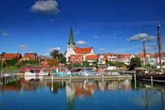 Porto di Roenne su Bornholm immagini stock libere da diritti