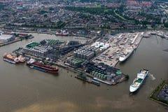 Porto di Rotterdam Fotografie Stock Libere da Diritti