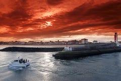 Porto di Saint-Jean-De Luz Fotografie Stock