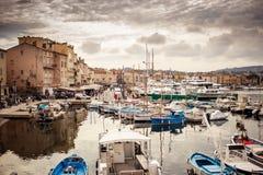 Porto di Saint Tropez, Francia fotografia stock libera da diritti