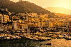 Porto di Salerno, Italia Fotografia Stock