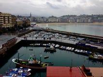 Porto di San Sebastian immagini stock libere da diritti