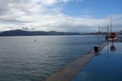 Porto di Santander, zona pedonale Immagine Stock Libera da Diritti