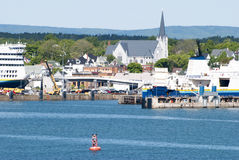 Porto di scalo nel Canada fotografie stock libere da diritti