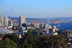 Porto di Seattle Washington. Fotografie Stock