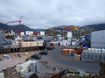 Porto di Sisimiut, Groenlandia. Immagine Stock