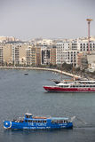 Porto di Sliema, Malta. immagini stock libere da diritti