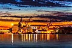 Porto di Stavanger Fotografie Stock Libere da Diritti