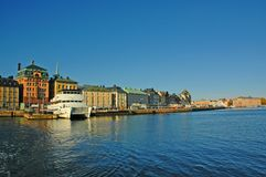 Porto di Stoccolma Fotografie Stock