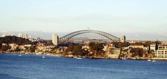 Porto di Sydney dall'isola del Cockatoo Fotografia Stock