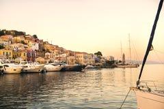 Porto di Symi Fotografia Stock