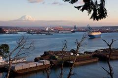 Porto di Tacoma Fotografia Stock Libera da Diritti