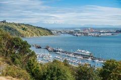 Porto di Tacoma e 6 più piovosi Immagine Stock