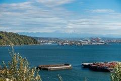 Porto di Tacoma e 9 più piovosi Fotografia Stock