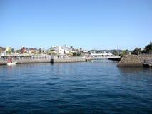Porto di traghetto della città di Kagoshima Fotografie Stock