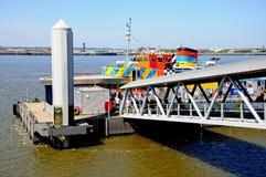 Porto di traghetto di Liverpool Fotografia Stock