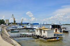 Porto di Tulcea Fotografie Stock