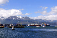 Porto di Ushuaia Immagine Stock