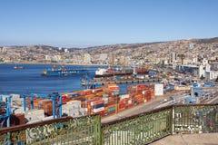 Porto di Valparaiso Fotografie Stock