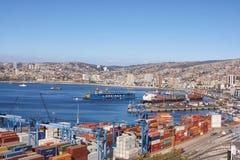 Porto di Valparaiso Fotografia Stock Libera da Diritti