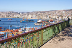 Porto di Valparaiso Immagine Stock